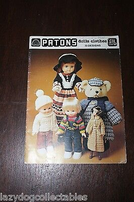 Patons Dolls Clothes 23 designs Vintage Knitting Book
