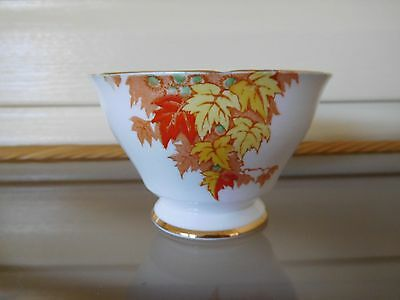 """Vintage Royal Staffordshire """"Autumn Leaves"""" Sugar Bowl Made In England 1930s"""