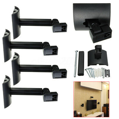 4Pcs Black Ceiling Bracket Wall Mount Clamping For Bose UB-20 Series Speaker