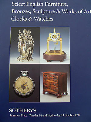 Sotheby's Select English Furn, Bronzes, Sculpture & Woa, Clocks & Watches 1997