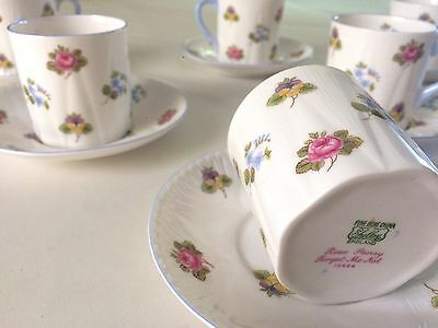 Shelley 'Rose Pansy Forget-Me-Not', Demitasse Set Of 6, #13424 C1940-66