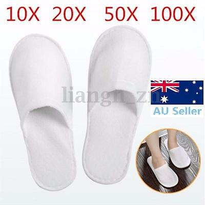 10/20/50/100 Pairs Unisex White Disposable Slippers Hotel Slippers SPA Slippers