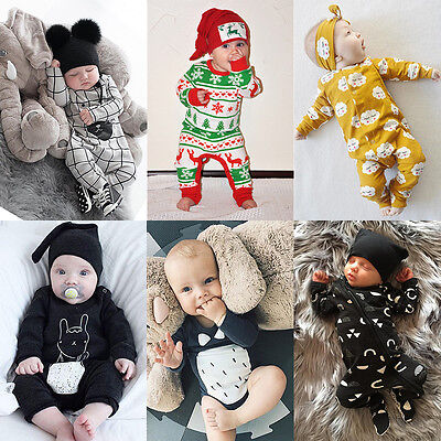 Toddler Newborn Baby Boys Girls Cotton Romper Jumpsuit Bodysuit Playsuit Outfits