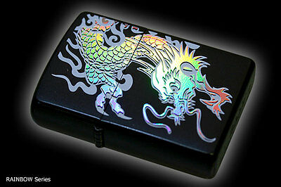 Zippo Oil Lighter Japanese Rainbow Dragon Ryu 7 Color Beautiful Holographic F/S