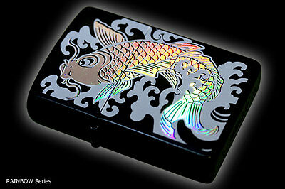 Zippo Oil Lighter Japanese Rainbow Koi Carp 7 Color Beautiful Holographic F/S