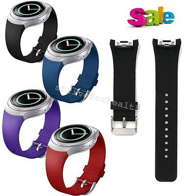 For Samsung Galaxy Gear S2 SM-R720 Replace Luxury Silicone Watch Band Strap NEW