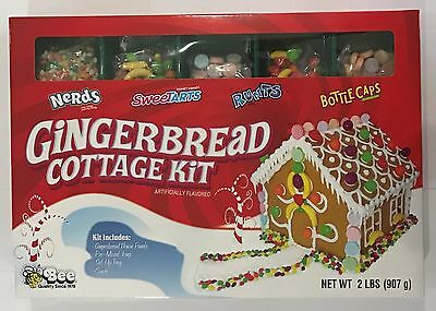907g BOX - GINGERBREAD COTTAGE KIT WITH AMERICAN CANDY - NOVELTY IDEA!