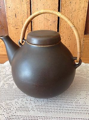 Arabia Tea Pot Chocolate Brown 11-66 Made in Finland
