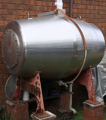 Stainless Steel Tank .Storage tank. Potential Open Fire Place.