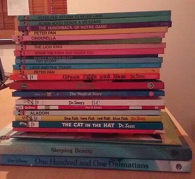 Bulk Lot Childrens Books - Disney, Cat In The Hat Books, And Others