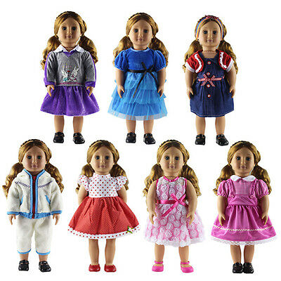 """2 Set Doll Clothes for 18/"""" American Girl Doll Handmade Clothing Dress AG521"""
