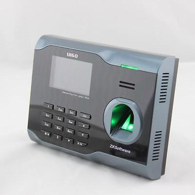 Color Screen Fingerprint Punch Machine Time Clock Recorder Attendance Machine