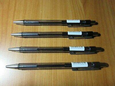 4 x BLACK Pilot Retractable Ballpoint Pen BP-145-F Fine 0.7mm free post