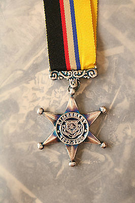 British Army Defence Of Kimberley Star Boer War Mayors Seige Medal Silver