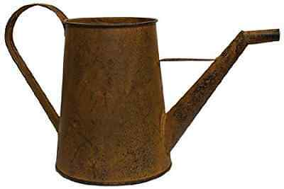 Rusted Metal Watering Can Black Distressed Country Primitive Garden Décor