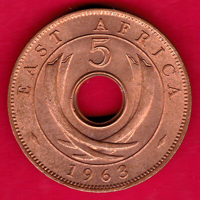 East Africa - 1963 - Five Cents  - Rare  Coin   #m50