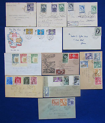 1948 - 1962 Malta Used FDC, Letters & Registered Letters to Valletta 11 Covers.
