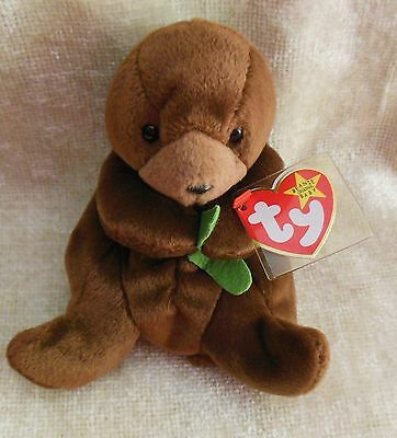 SEAWEED the seal ~ RETIRED ~ TY Beanie Baby / Babies ~ MWMT