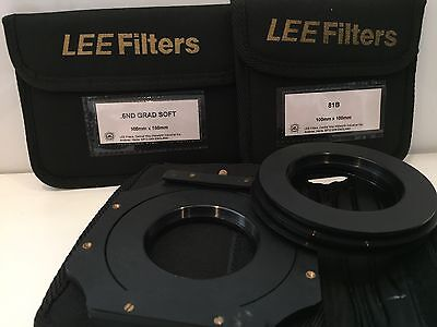 Lee Filter 6 ND Grad Soft 100x150 + 81B 100x100 + Halter + Adapter Ringe