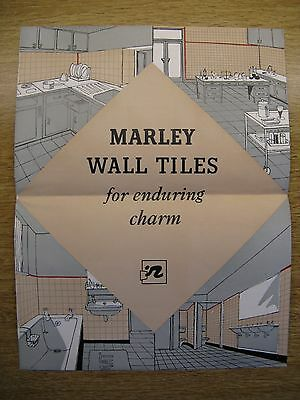 Marley Wall Tiles Advertisement Leaflet - Circa 1950's