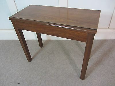 Vintage Duet Organist Bench Stool Formica Walnut Practical Music Storage Piano