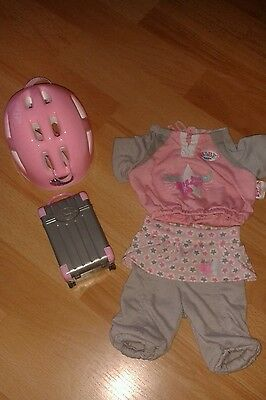 Baby Born Outfit With Helmet And Suitcase