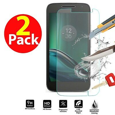 Genuine Tempered Glass Shockproof Screen Protector For Motorola Moto G4 Play