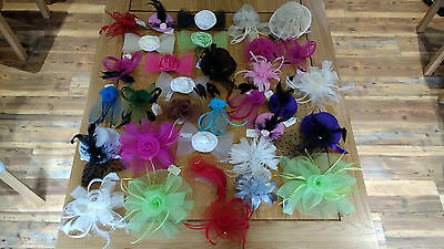 Joblot Ladies Fascinators All Colours All Shapes and Sizes 57 in Total