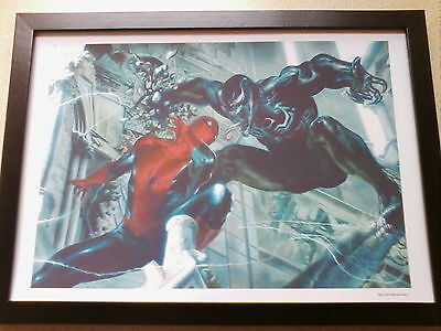 Marvel spiderman vs venom framed print