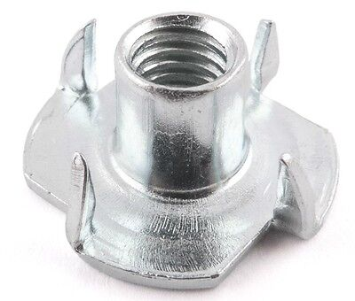 Climbing Wall Holds Fixing T Nuts Tee Nut 4 Pronged M10 Zinc Plated In & Outdoor