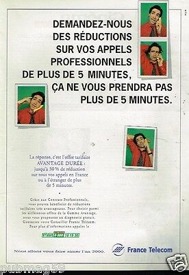 Publicité advertising 1997 France Telecom