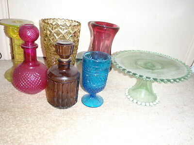 coloured glass collection