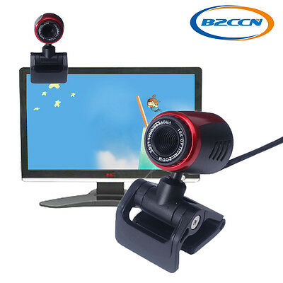USB 2.0 HD Webcam Camera Web Cam Built-in Mic For Computer PC Laptop Desktop