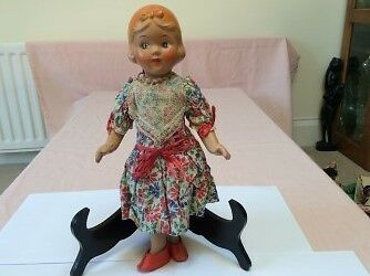 Vintage 1930's Composite Doll in Original Clothes
