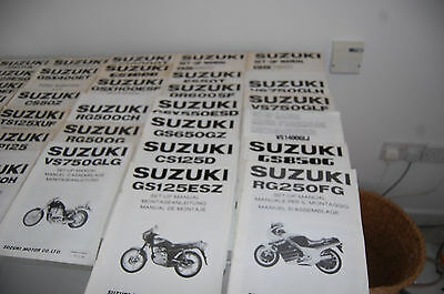 suzuki motorcycleSET UP manuals JOB LOT  to clear SOME NOS