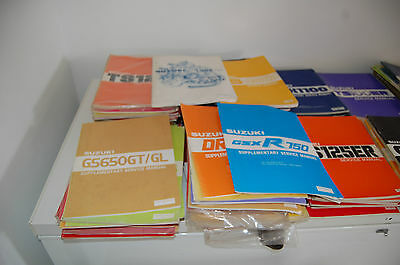 suzuki motorcycle manuals JOB LOT  to clear SOME NOS