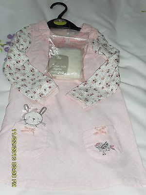 Baby Girls Dress, Top And Tights Size  9 - 12 Months  A Lovely Christmas Present