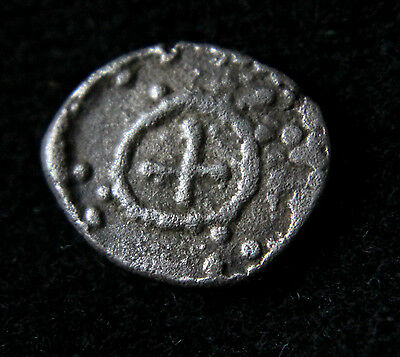 ANGLO-SAXON,  Sceat Silver Coin with crosses Circa 720-710 AD