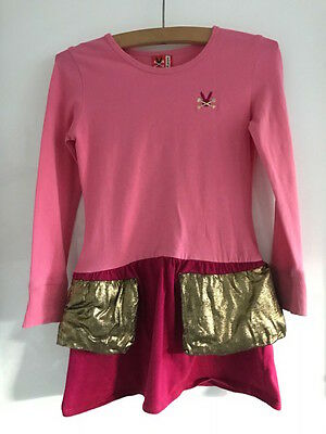 No Added Sugar STUNNING Party Dress Pink and GOLD Age 4 years