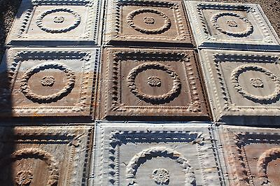 Antique Pressed Tin Ceiling (10 pieces) ***Free Shipping***