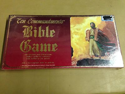 Ten Commandments Bible Board Game, 1988 Cadaco, Vintage, New, Sealed, 10