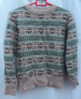 Vintage wool Christmas jumper size S