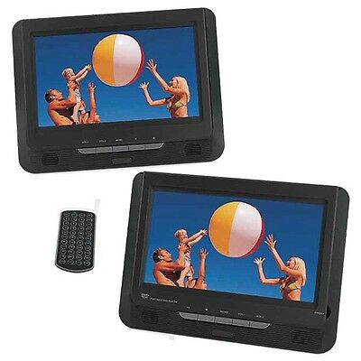 "22.75cm 9"" Dual Screen Portable DVD Player Usb Sd Reader Like New! Warranty !"