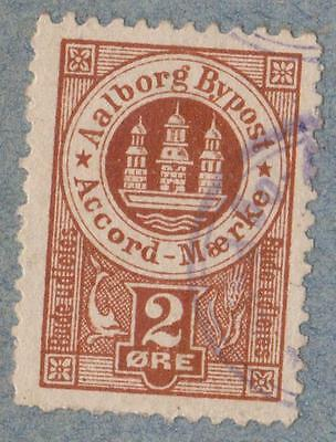 DANEMARK- BY POST AALBORG  ORE  stamp with obliteration