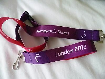 Olympic Games Maker Lanyard London 2012 Paralympics - Volunteer -  Brand New