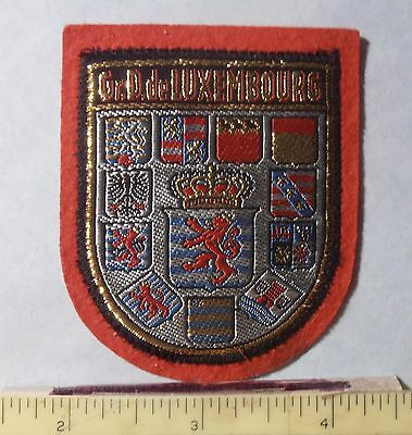 PATCH - GRAND DUCHY OF LUXEMBOURG ~ 10 Coats of Arms on red felt