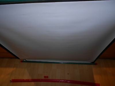 """Booths Fins PROJECTOR Screen Floor / Free Standing  40"""" x 30"""", Made in Italy."""