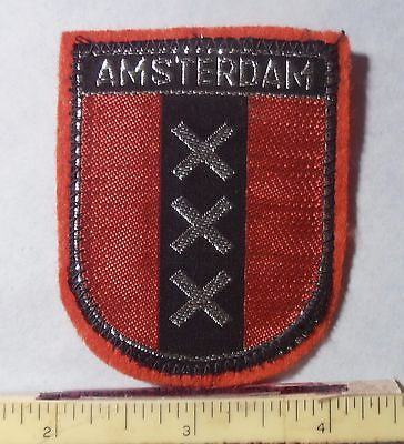 PATCH - AMSTERDAM XXX FLAG ~ Capital of NETHERLANDS  on red felt