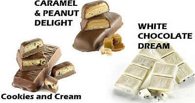 Ideal Protein Compatible - (3 BOXES) Caramel & Peanut  - Cookies &  - White Choc