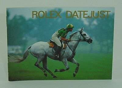 Genuine Rolex booklet vintage Datejust instruction 1992